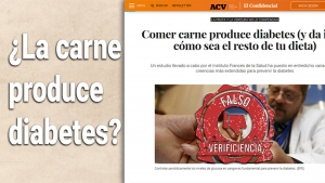 ¿La carne produce diabetes?